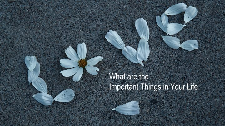 important things in life