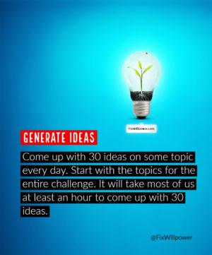 30-day challenges idea machine