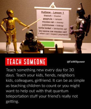 30-day challenges teach