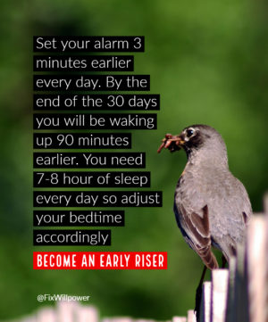30-day challenges wake up early