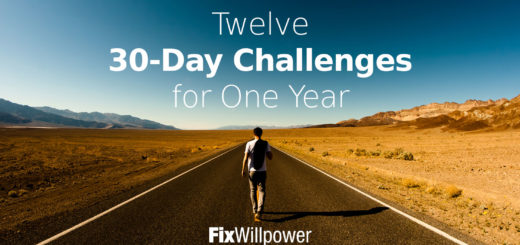 30-day challenges willpower