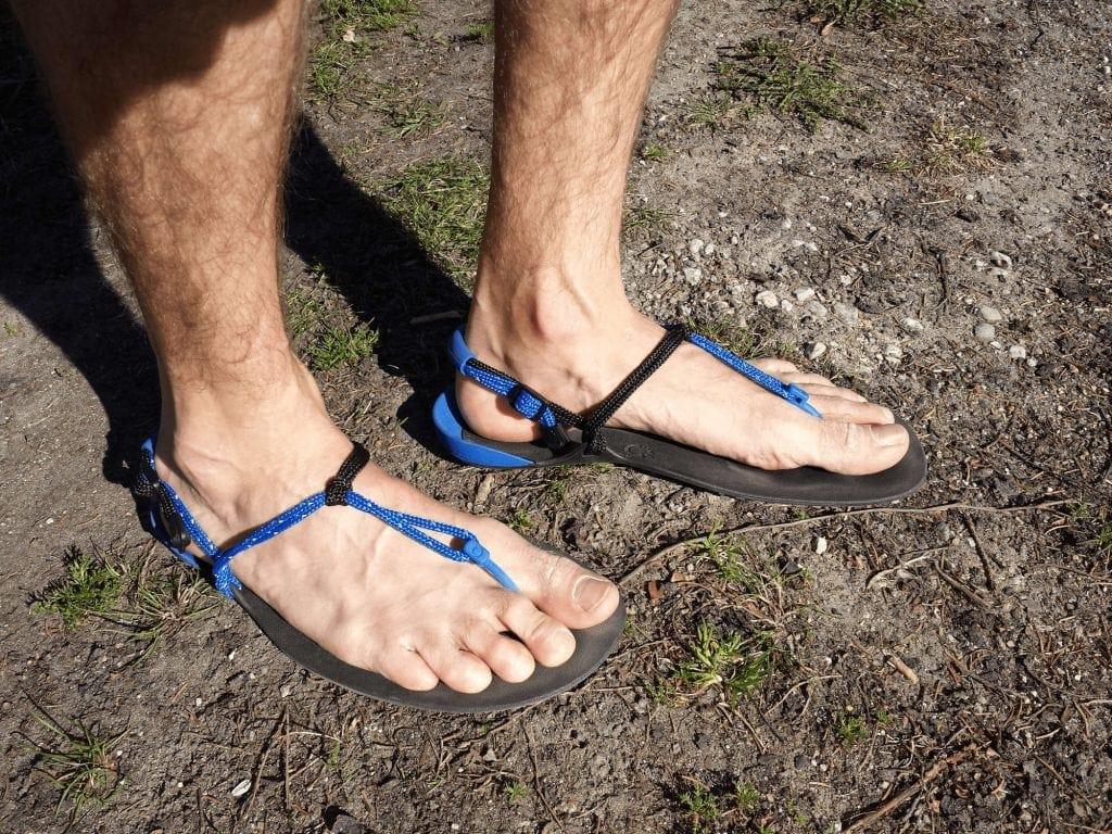 Xero Shoes huarache running sandals after