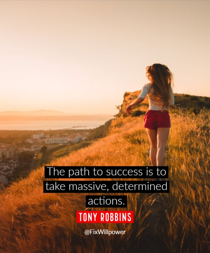 act now quote Robbins