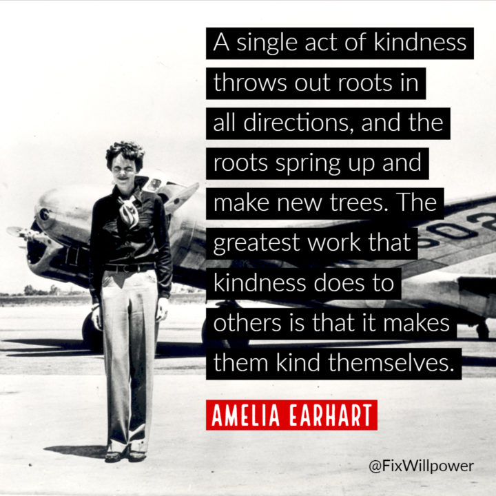 Amelia Earhart single act of kindness