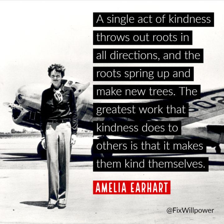 Amelia Earhart single act of kindness
