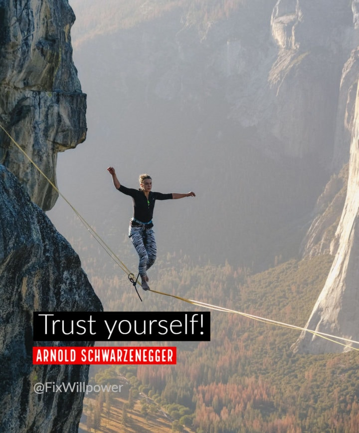 Arnold six rules trust yourself