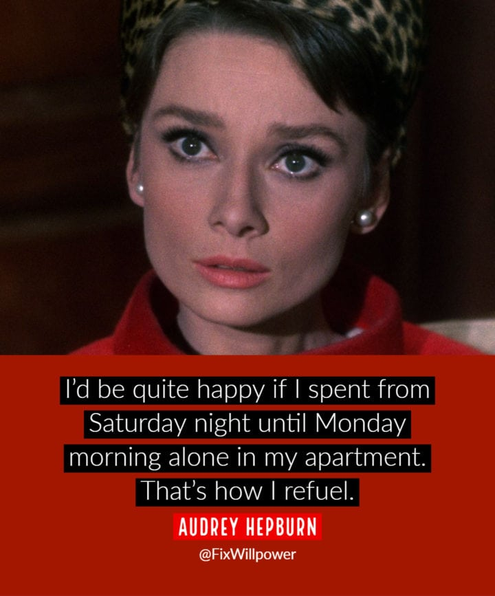 being alone quotes Hepburn
