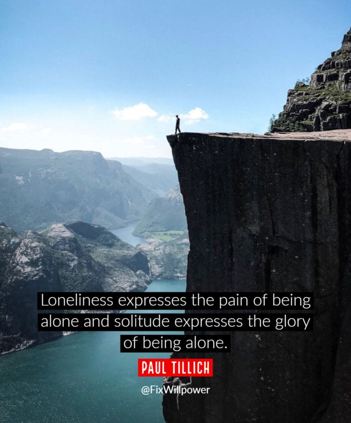 being alone quotes Tillich
