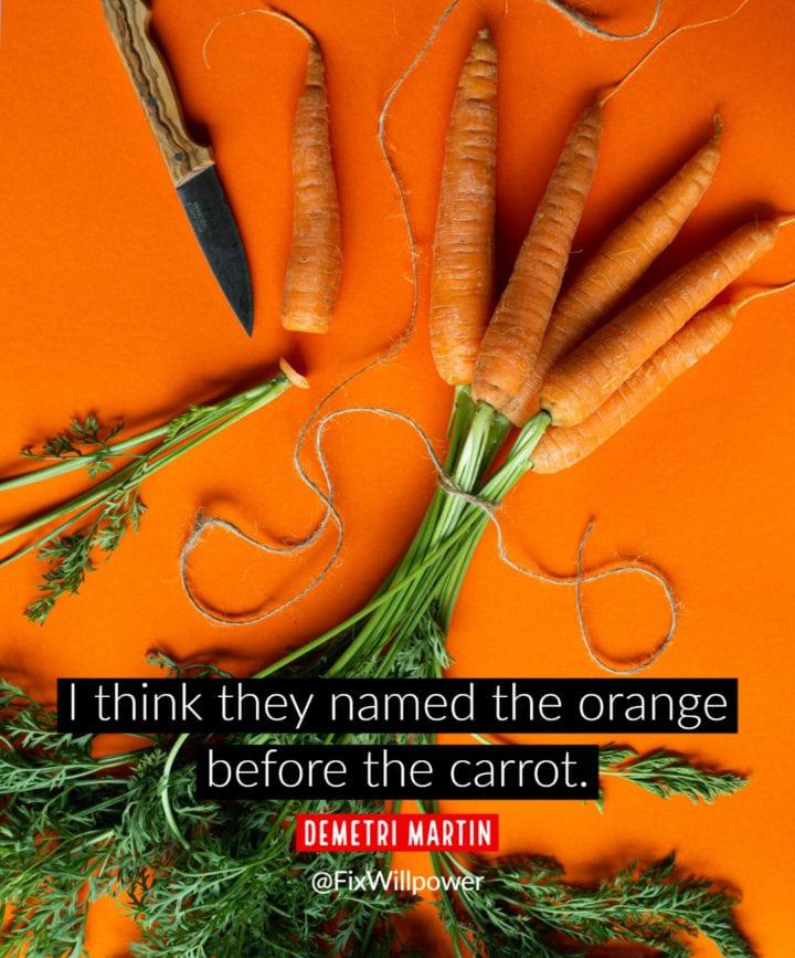 stop smoking, eat carrots