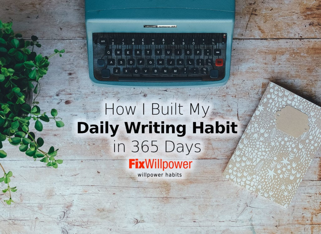 daily writing habit year