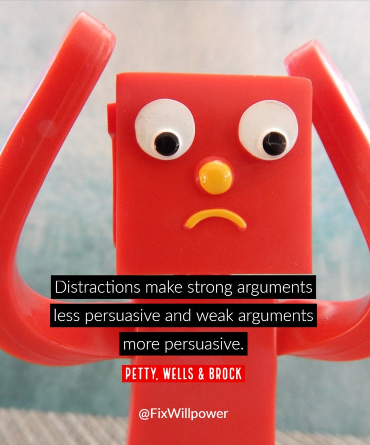 distractions quote petty