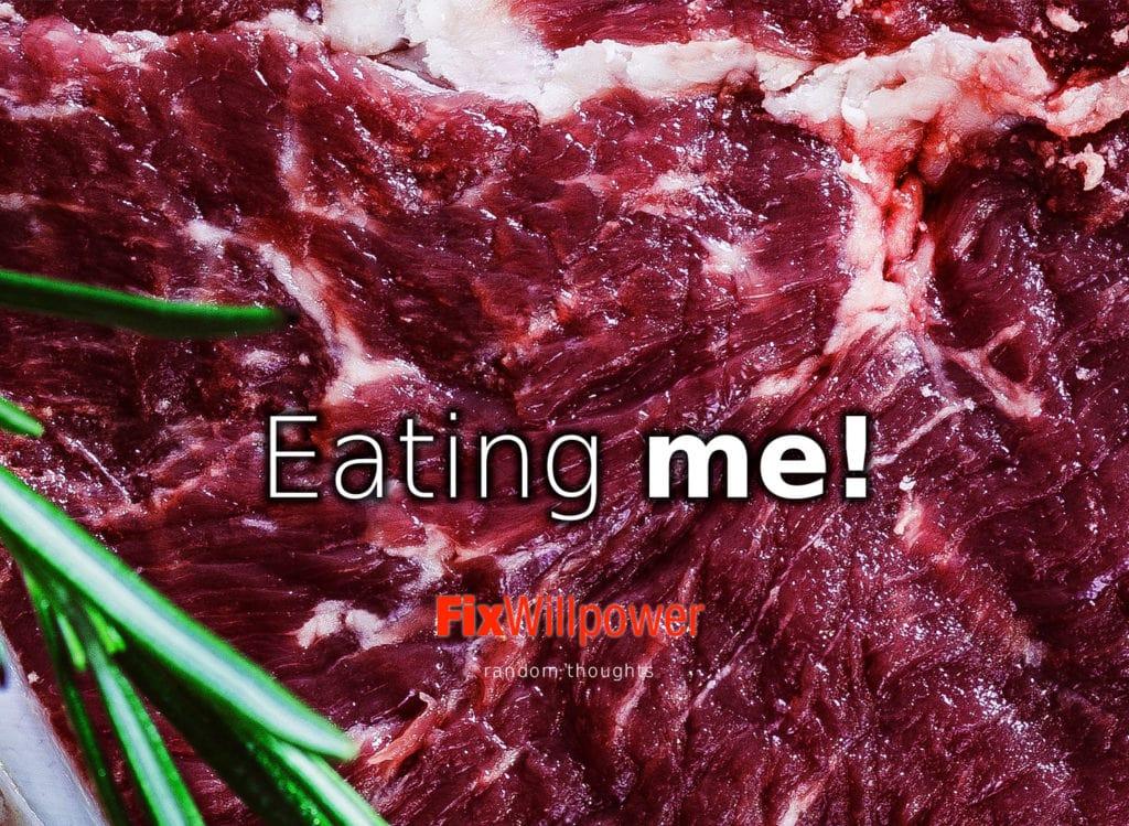 eating me