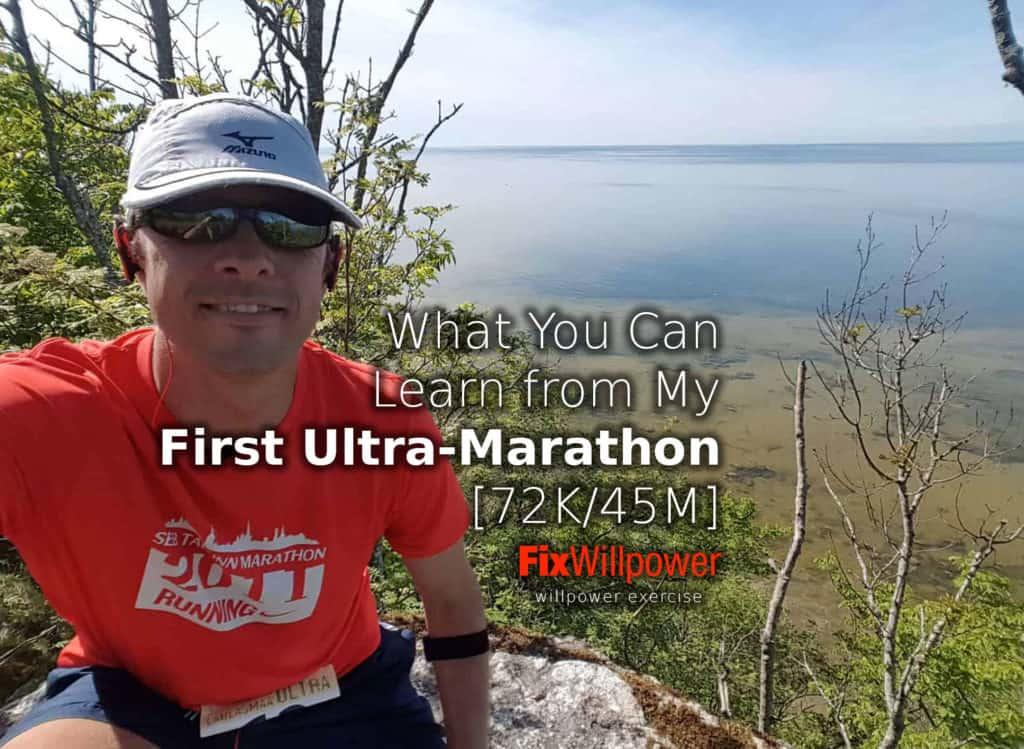 first ultra-marathon selfie learn