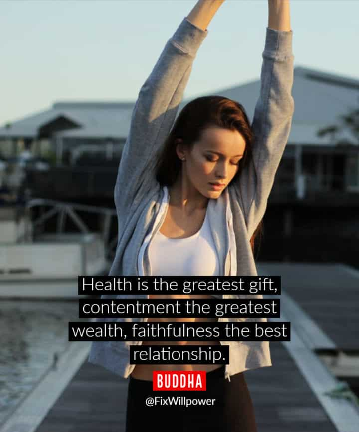 health quotes Buddha