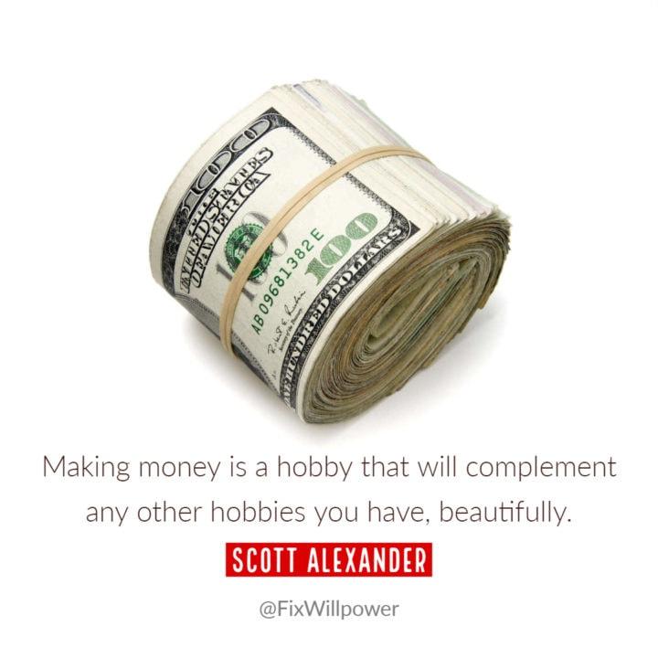 hobby making money