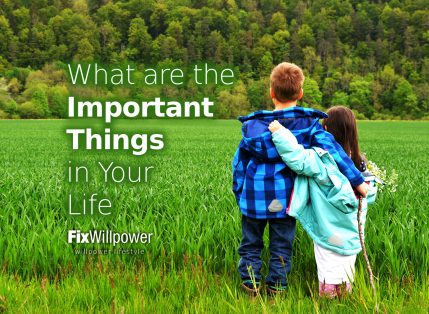 What are the Most Important Things in Life?