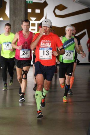 indoor marathon running curves
