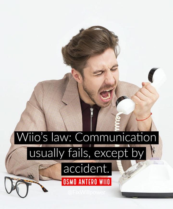 listening quotes wiio's law