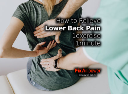 How to Relieve Lower Back Pain [1 exercise, 1 minute]