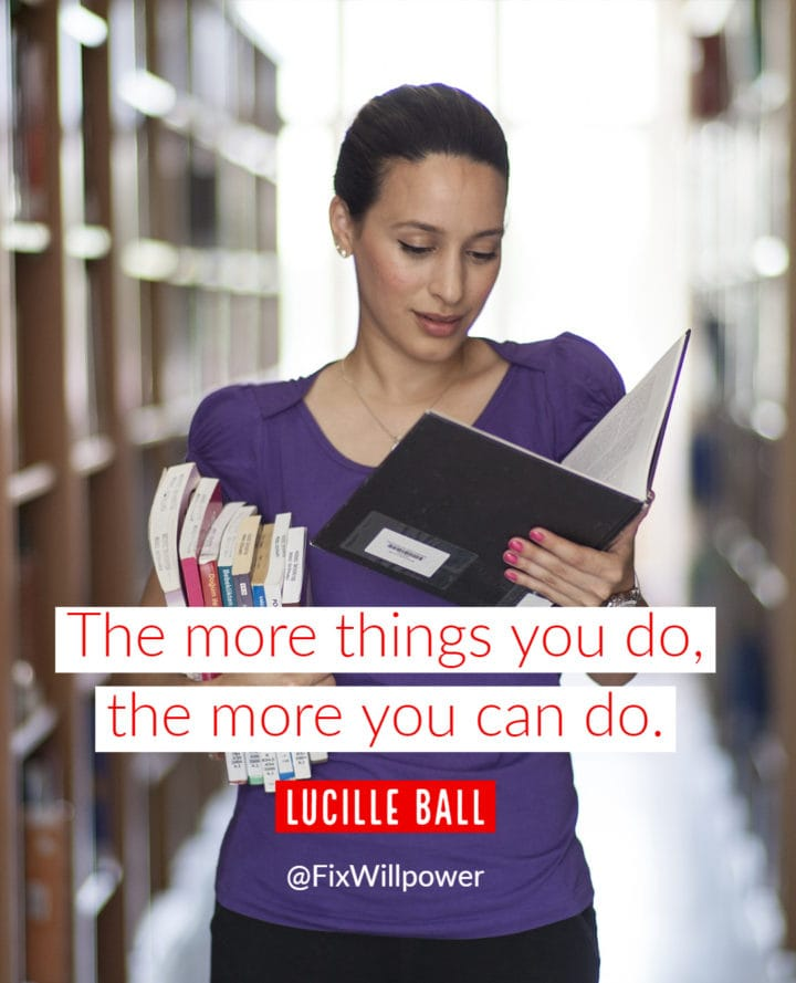 lucille ball willpower quote