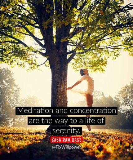 Meditate to serenity!