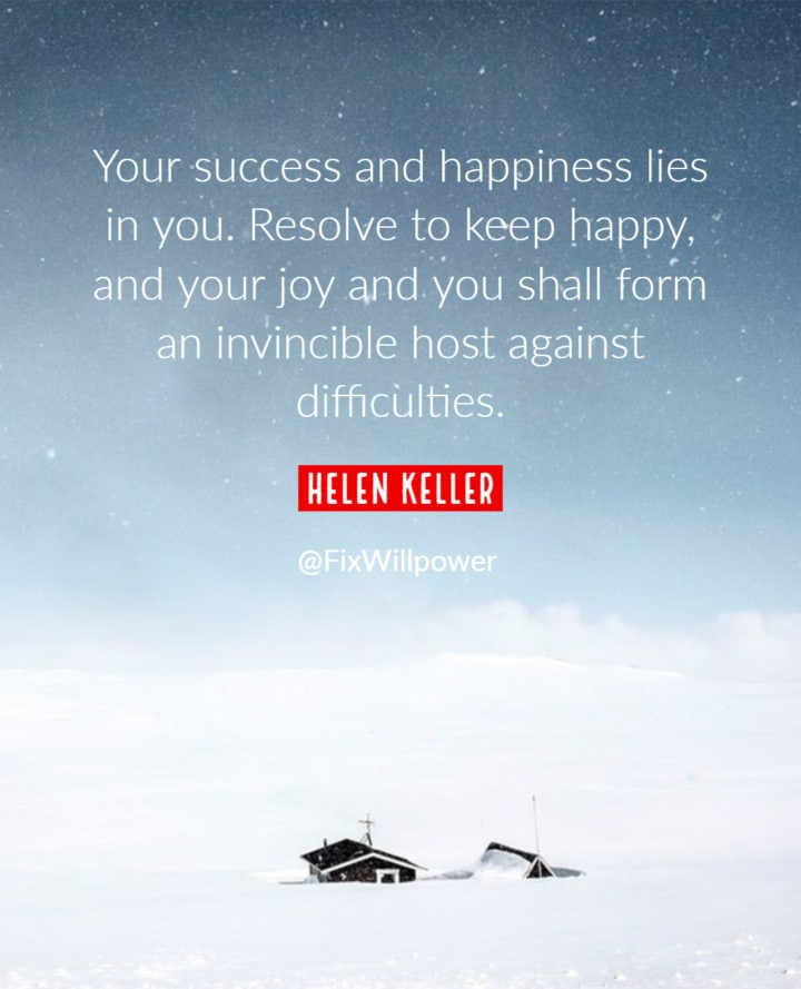 new year's resolutions quote Helen Keller