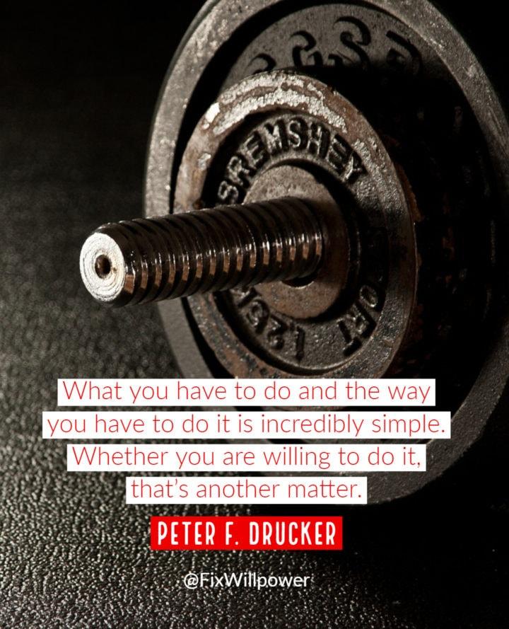 peter drucker willpower quote