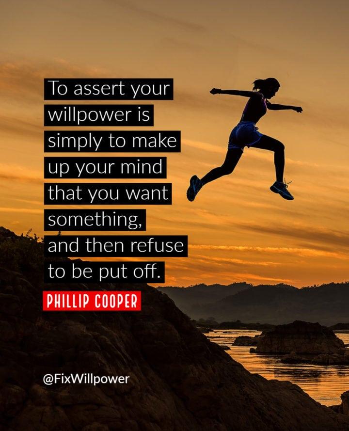 phillip cooper willpower quote
