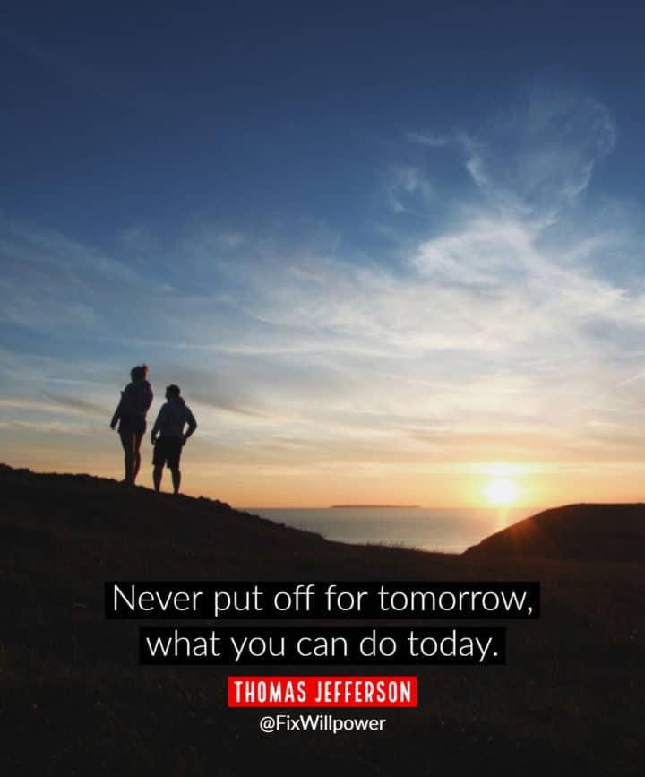 procrastination quotes Jefferson