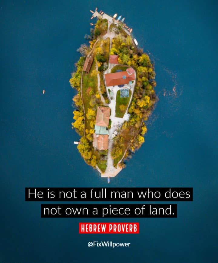 real estate quotes Hebrew proverb