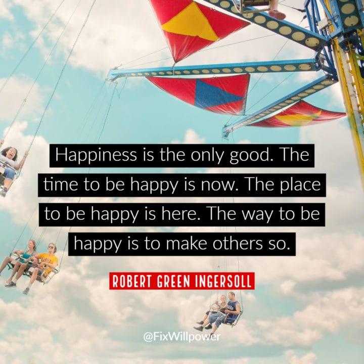 robert green ingersoll quote happiness