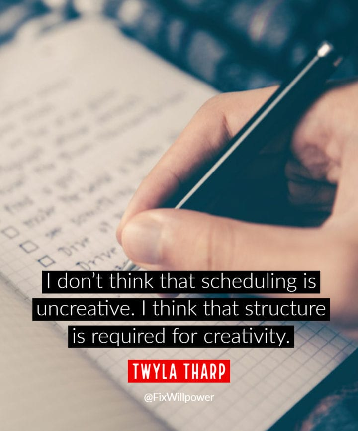 scheduling quote Tharp