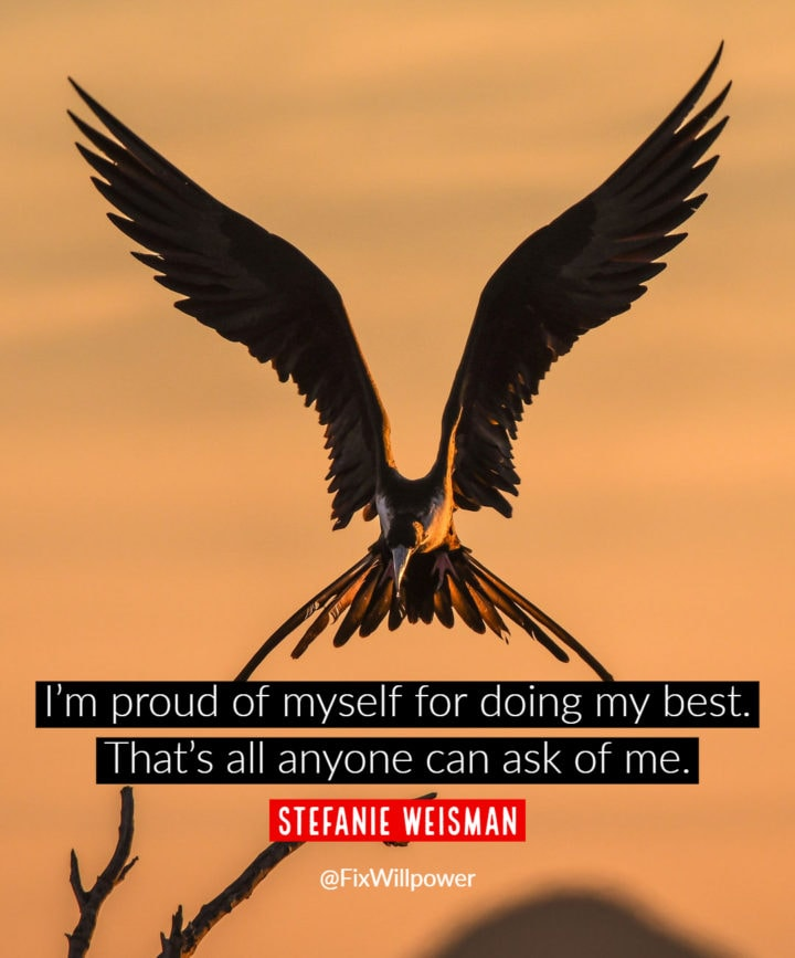 self-affirmations quotes Weisman