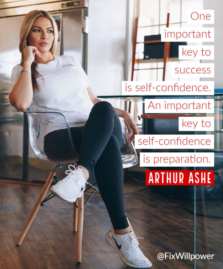 self-confidence arthur ashe quote