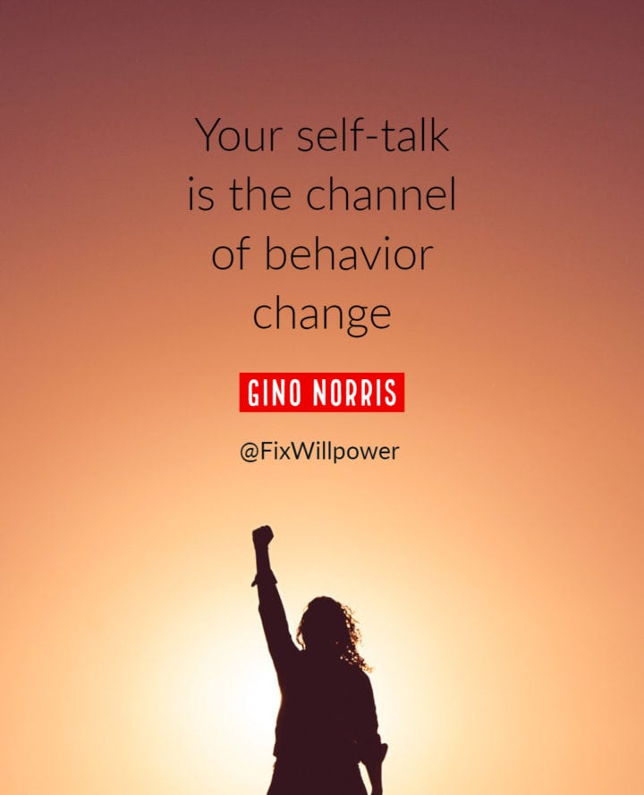 self talk quote gino norris