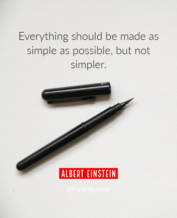 simplify your day Einstein quote