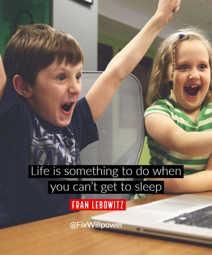 sleep quotes Lebowitz