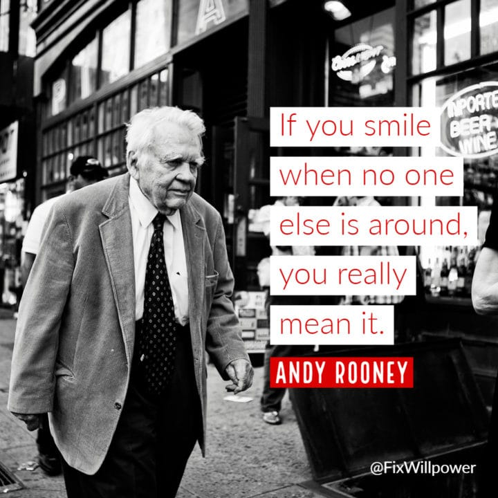 smile Andy Rooney quote