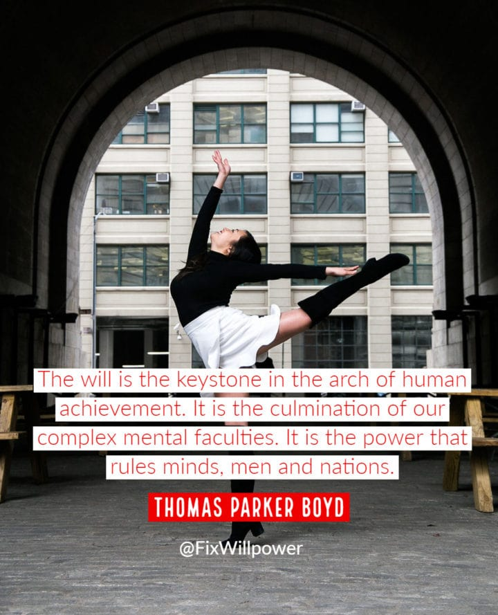 thomas parker boyd willpower quote