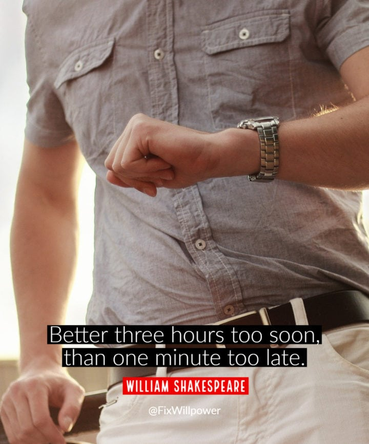time management quote shakespeare