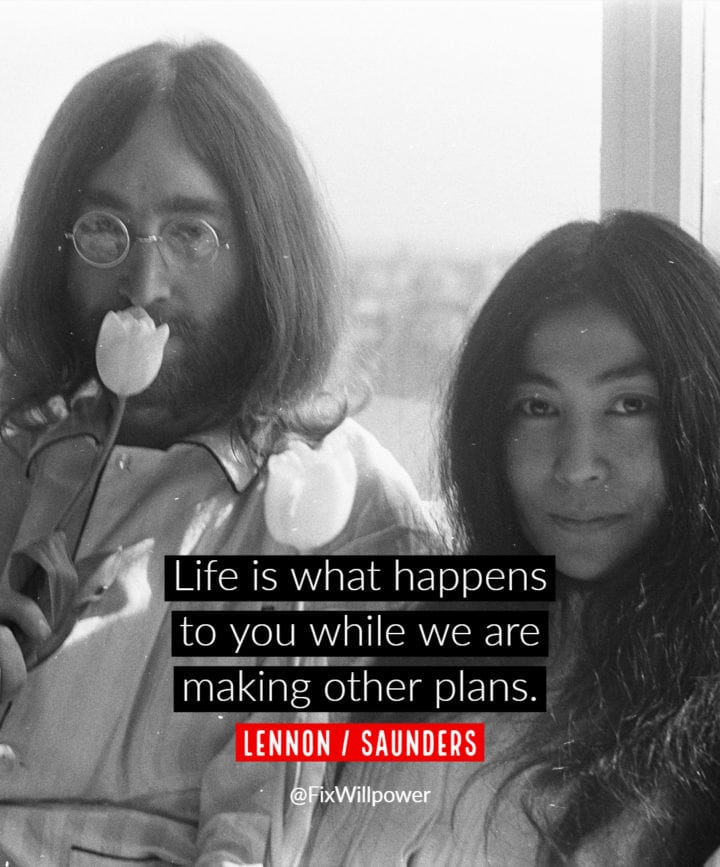 time management quotes Lennon