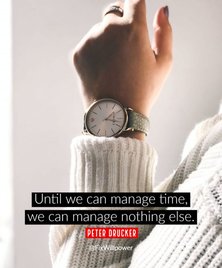 time quote drucker