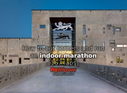 Indoor Marathon [167 laps]: Why Cut Corners? To Run Faster!
