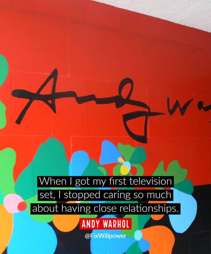 tv quotes Warhol