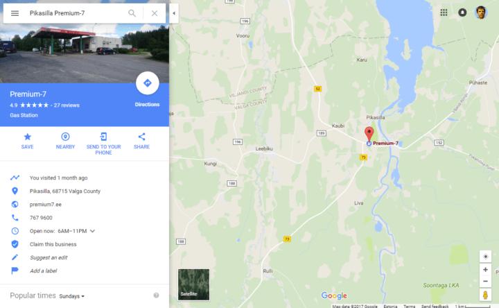 ultrarunning around lake Võrtsjärv Premium-7 gas station