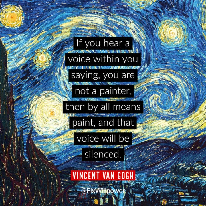 van Gogh self-talk