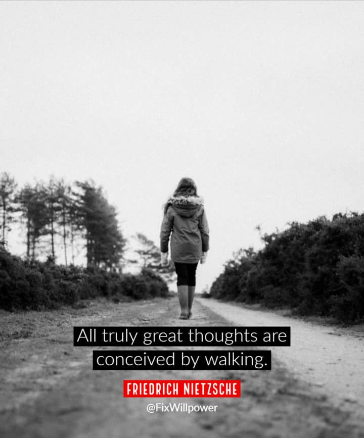 walking quote Nietzsche