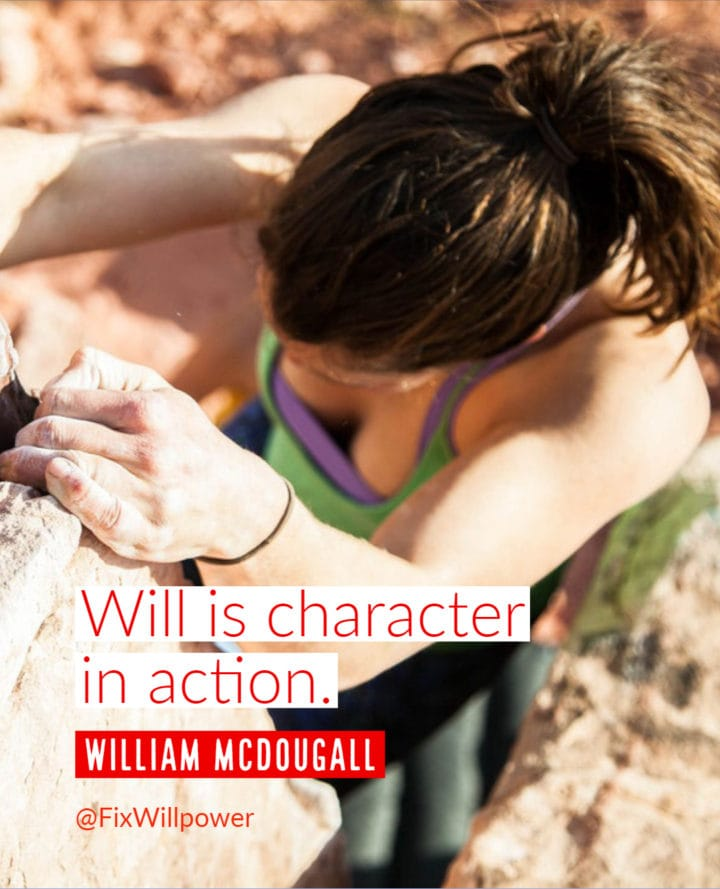 william mcdougall willpower quote