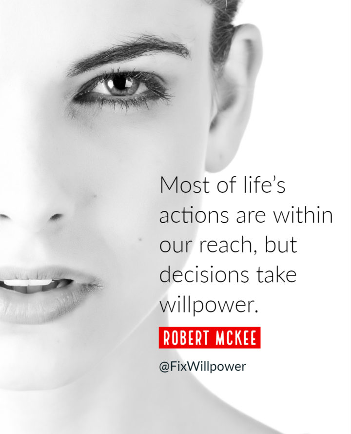 willpower quote mckee