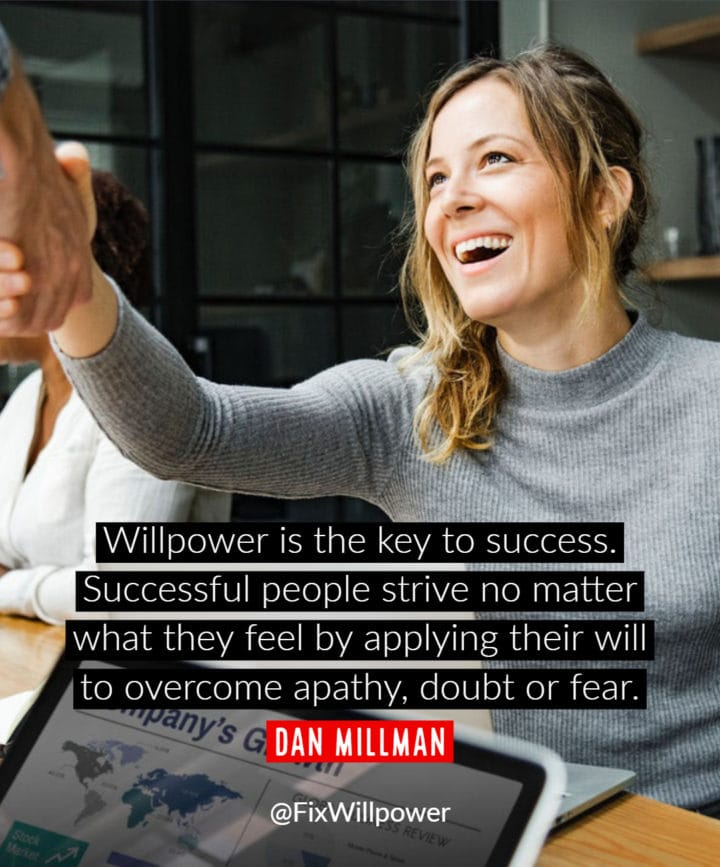 willpower quotes millman
